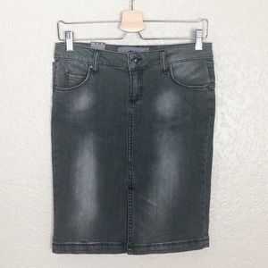NWT Zara Basic grey denim pencil skirt